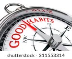 good habits red message on... | Shutterstock . vector #311553314
