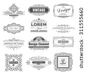 retro vintage labels insignias... | Shutterstock .eps vector #311555660
