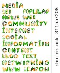 social media in the internet  ... | Shutterstock .eps vector #311557208