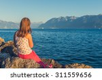 outdoor portrait of a cute... | Shutterstock . vector #311559656