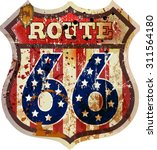 Route Sixty Six Road Sign...