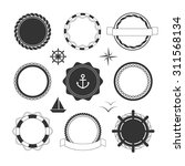 collection of black nautical... | Shutterstock .eps vector #311568134