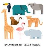 vector illustration of cute... | Shutterstock .eps vector #311570003