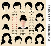 female icon constructor  face... | Shutterstock .eps vector #311570519