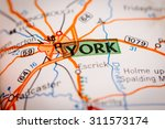 map photography  york city on a ... | Shutterstock . vector #311573174