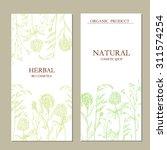 vector template herbal label... | Shutterstock .eps vector #311574254