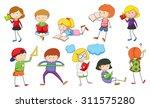 set of children studying... | Shutterstock .eps vector #311575280