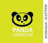 panda icon. vector panda bear... | Shutterstock .eps vector #311575550