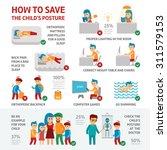 children's posture infographic... | Shutterstock .eps vector #311579153