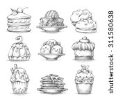 vector set sketch illustrations ... | Shutterstock .eps vector #311580638