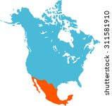 map of mexico | Shutterstock .eps vector #311581910