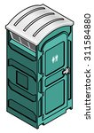 a portable toilet for outdoor... | Shutterstock .eps vector #311584880