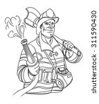 fireman vector illustration    Shutterstock .eps vector #311590430