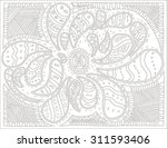 doodles  zentangle stylized ... | Shutterstock .eps vector #311593406