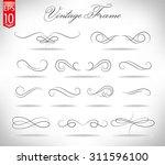 ornate frame elements. vintage... | Shutterstock .eps vector #311596100