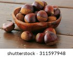 Many Chestnut On The Table