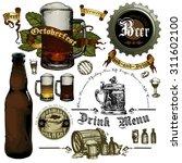 set of beer elements    Shutterstock .eps vector #311602100