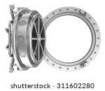 round bank vault door | Shutterstock . vector #311602280