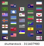 world flags collection  regions ... | Shutterstock .eps vector #311607980
