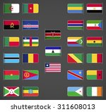 world flags collection  africa  ... | Shutterstock .eps vector #311608013