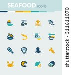 set of colorful flat icons... | Shutterstock .eps vector #311611070
