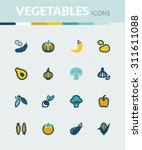set of colorful flat icons... | Shutterstock .eps vector #311611088