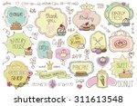 bakery vintage badges labels... | Shutterstock .eps vector #311613548