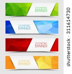 set of geometric  polygonal... | Shutterstock .eps vector #311614730