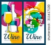 vector illustration of wine... | Shutterstock .eps vector #311617130