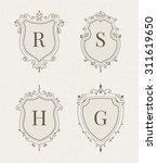 set of luxury premium stylish... | Shutterstock .eps vector #311619650