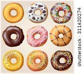set of cartoon donuts. vector... | Shutterstock .eps vector #311620274