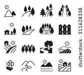 landscape icon set | Shutterstock .eps vector #311628338