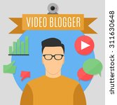 video blogger with five... | Shutterstock .eps vector #311630648