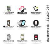 mobile phones and smartphones ... | Shutterstock .eps vector #311634059