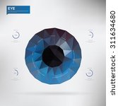 eye created from polygons... | Shutterstock .eps vector #311634680