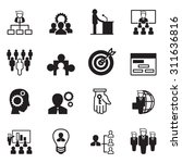 management icon set | Shutterstock .eps vector #311636816