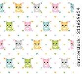 cats and hearts children...   Shutterstock .eps vector #311639654