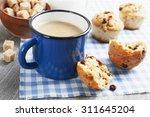 Mug Coffee With Milk And...