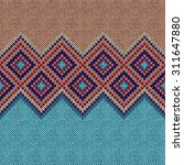 Seamless Pattern. Knit Woolen...