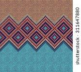 seamless pattern. knit woolen...