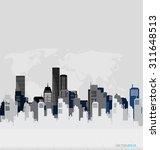 creative building design... | Shutterstock .eps vector #311648513