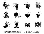 office syndrome effects icons... | Shutterstock .eps vector #311648609