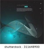 vector world map illustration | Shutterstock .eps vector #311648900