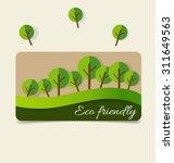nature banner. ecology concept... | Shutterstock .eps vector #311649563