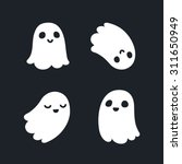 set of four adorable cartoon... | Shutterstock .eps vector #311650949