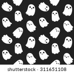 Seamless Pattern Of Cute Littl...
