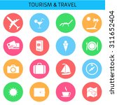 web icons set for tourism and...