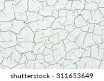 pattern of cracks in a painted... | Shutterstock . vector #311653649