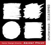 set of white hand drawn grunge...   Shutterstock .eps vector #311658983