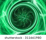 Green Abstract Fractal With ...